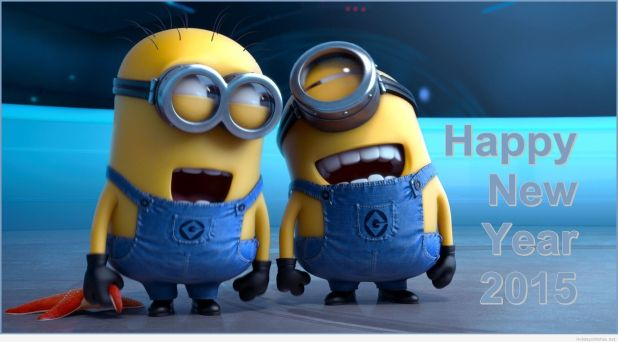 Happy-Minion-wallpaper-and-Happy-New-Year-2015