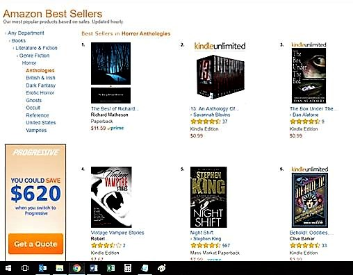 pic of ranking on Amazon